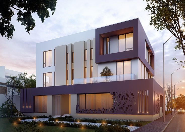 600 m private villa kuwait sarah sadeq architectes for Architecture facade villa