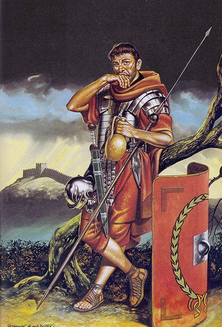 """Legionario romano en Britannia, s. II dC"", Ronald Embleton"