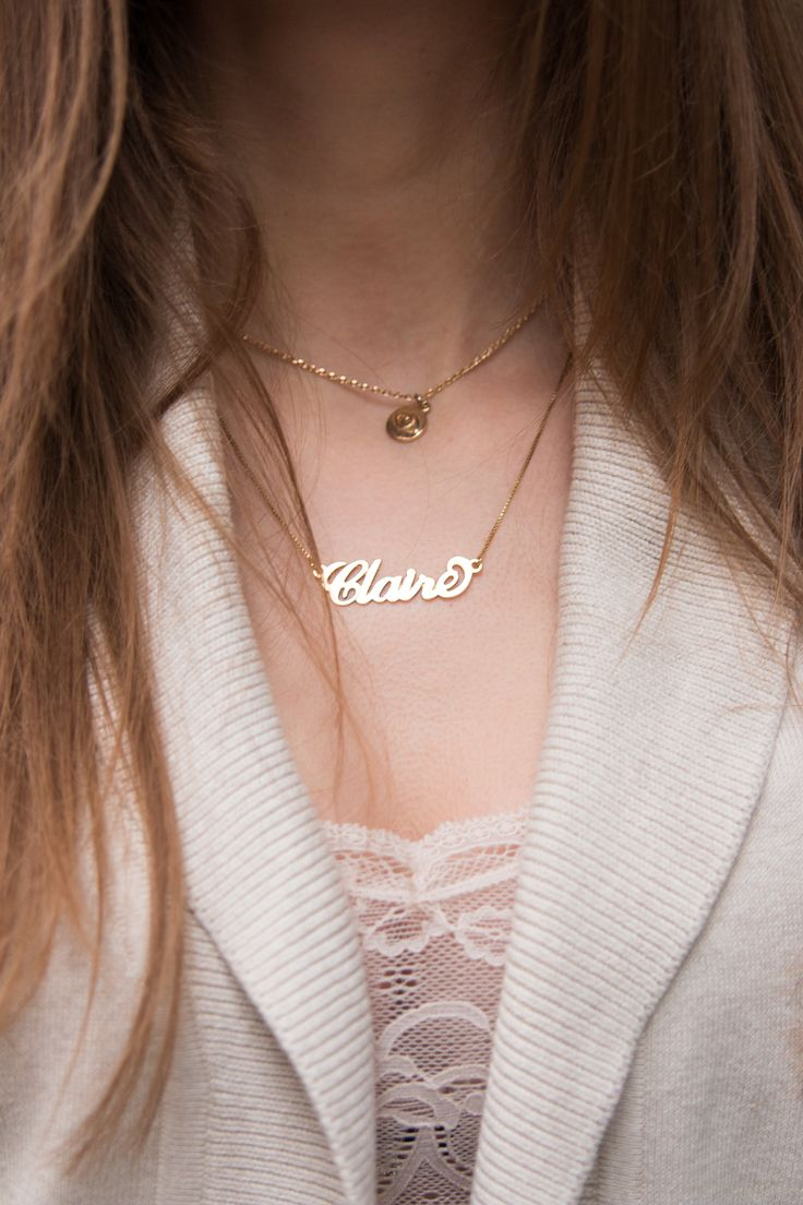 NECKLACE, HM, MY NAME NECKLACE, CLAIRE, NECKLACE LAYERING, GOLDEN, JEWELRY, ACCESSORIES