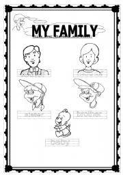 My Family Preschool Worksheet Family Worksheet Preschool Worksheets Word Family Worksheets Worksheet family members for kindergarten