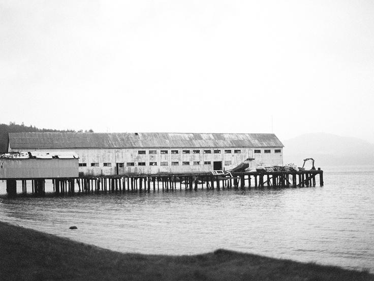 Old Cannery, Alert Bay, Cormorant Island, BC, Canada. Christian Ward, Contax 645, Ilford Delta