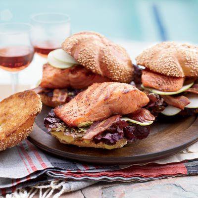 Grilled Glazed SalmonGrilled Salmon, Glaze Salmon, Grilled Glaze, Food, Sandwiches Recipe, Salmon Recipe, Grilled Recipe, Grilled Sandwiches, Glazed Salmon
