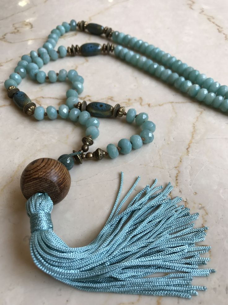 Mala 108 beads necklace  -Amazonite