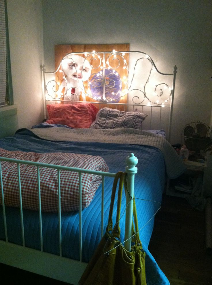 String Lights On Bed Frame : 41 best images about String Lights on Pinterest