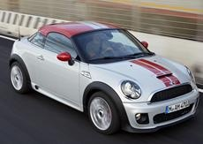 Tiny new Mini Cooper Coupe!  Oh I want one!