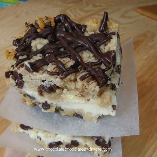 So much to love in one bar! Chocolate Chip Cookie Dough Cheesecake Bars!