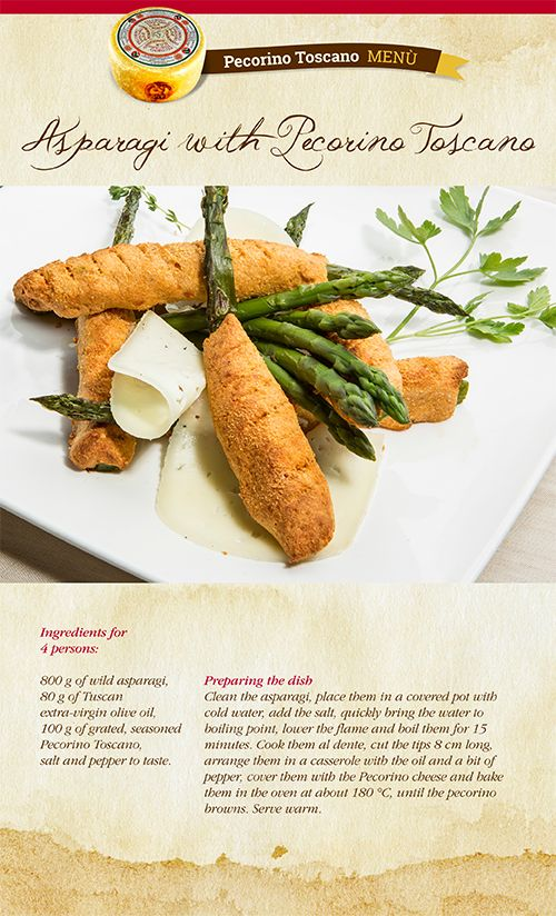 Oil, asparagus and Pecorino Toscano PDO: with these three simple ingredients you can make a delicious dish, perfect as a starter. In our blog you'll find how to make it.