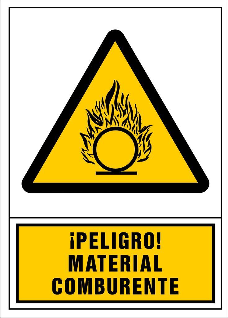 Señal peligro material comburente
