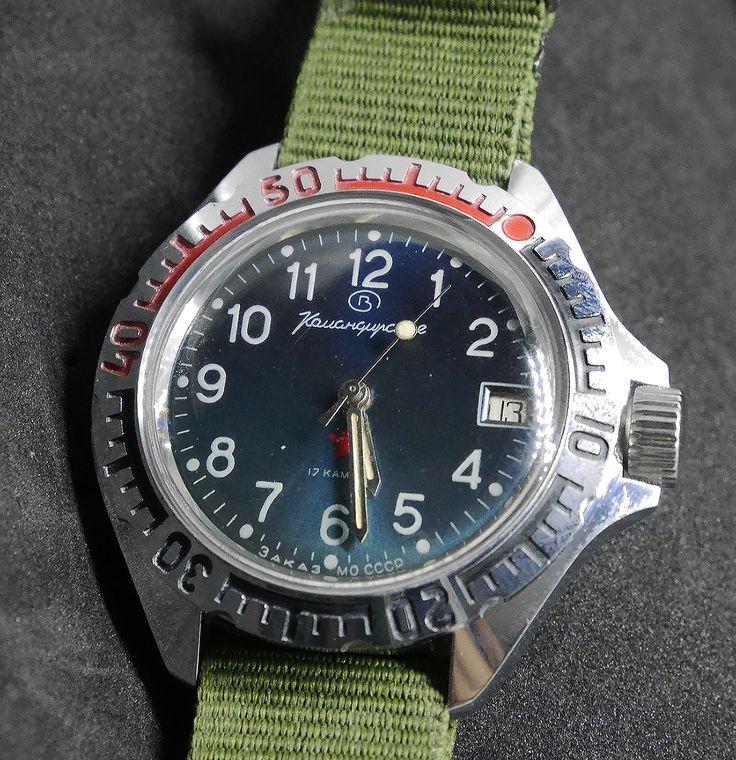 VOSTOK KOMANDIRSKIE MILITARY Soviet ussr watch