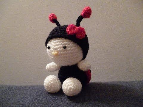 Tutorial Coccinella Uncinetto -Amigurumi Ladybug Crochet -Mariquita Croche - YouTube