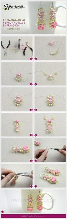 Jewelry Making Idea—How to DIY Pearls Rose Earrings PandaHall Beads Jewelry Blog