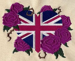 Union Jack and Roses | Urban Threads: Unique and Awesome Embroidery Designs UT3217