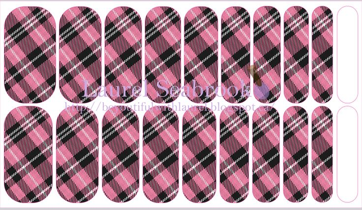 Black & Pink Plaid #NAS #nailart #christmas #nailfashion #jamberry