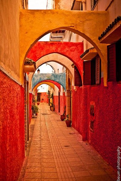 Africa | Colorful passageway, the Old Medina - Rabat, Morocco | ©  Beum เบิ้ม Portƒolio
