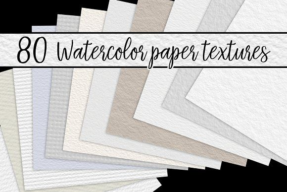 Watercolor Paper Textures By Julie Campbell Layer3mockups
