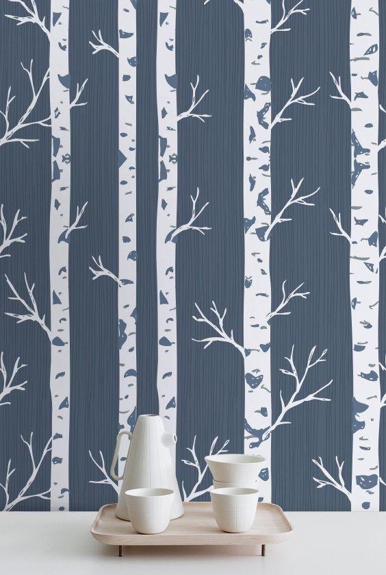 Top 25 best birch tree wallpaper ideas on pinterest for Birch trees wallpaper mural
