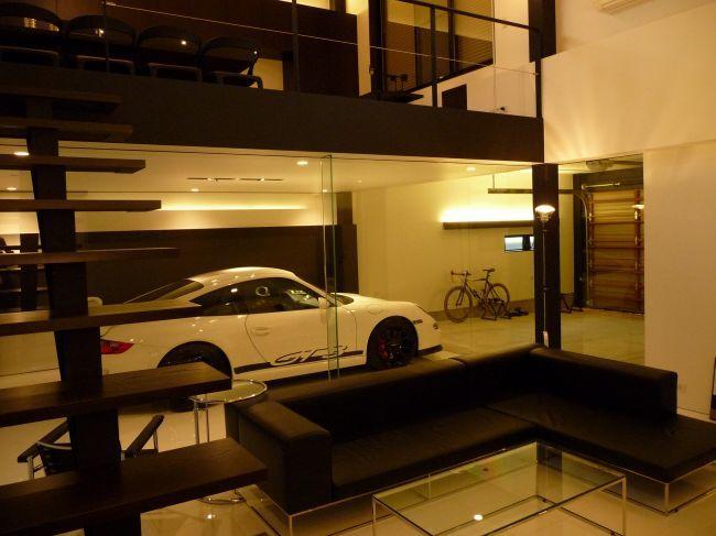 Modern p-car garage
