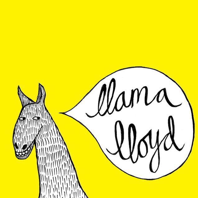 Llama Lloyd logo. Illustration by Galia Durant.