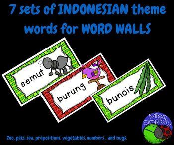 Bundled INDONESIAN theme words.