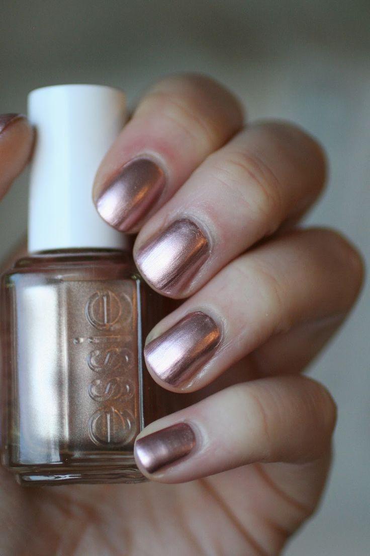 14 best Metallic Gold Chrome Nails Art Designs images on Pinterest ...