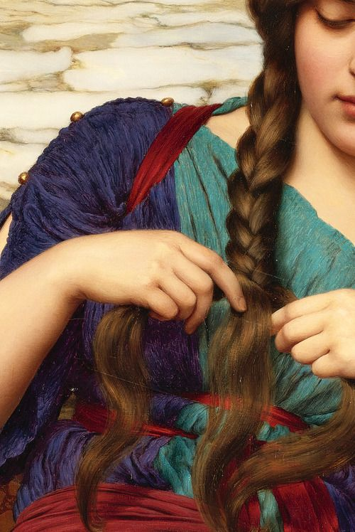 John William Godward, A Congenial Task (Detail) 1915