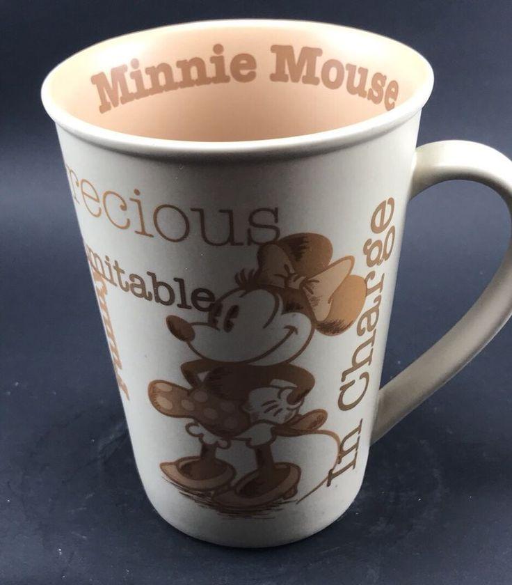Walt Disney World Minnie Mouse Coffee Mug Beige Sweet Precious Indomitable Funny  | eBay