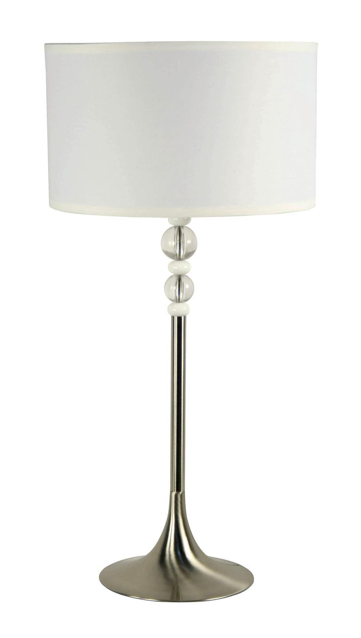 33 best modern day images on pinterest floor lamps table luella table lamp clear and white acrylic spheres bring a glamorous touch to this modern geotapseo Choice Image