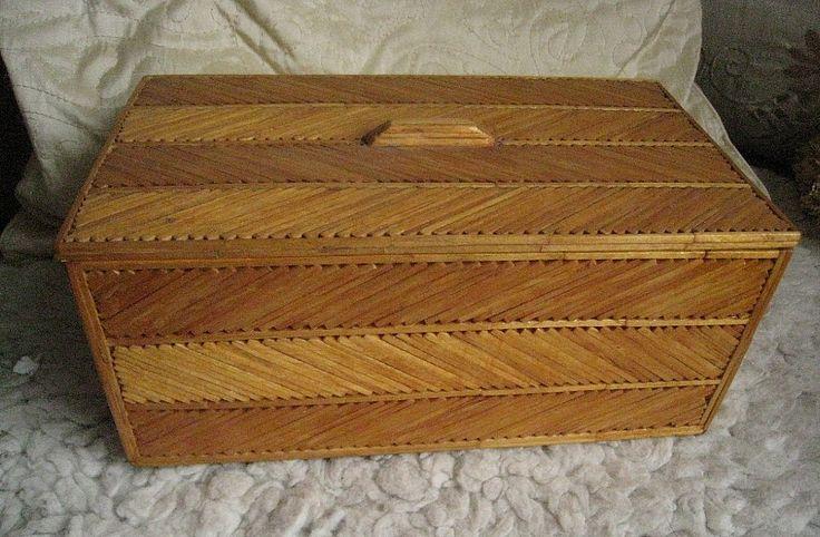 Box Made From Matchsticks Matchstick Craft Craft Stick