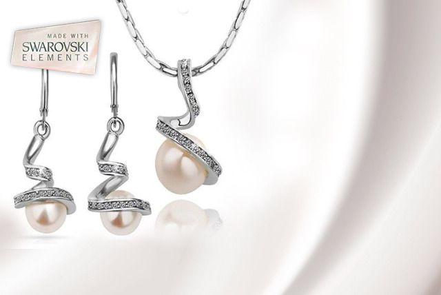 Swarovski Elements Swirl Jewellery Set