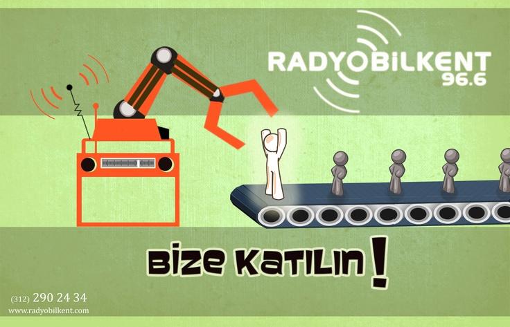 Radyo Bilkent ailesine sen de katıl! 2012 Bahar Dönemi Eleman Alımı Posteri