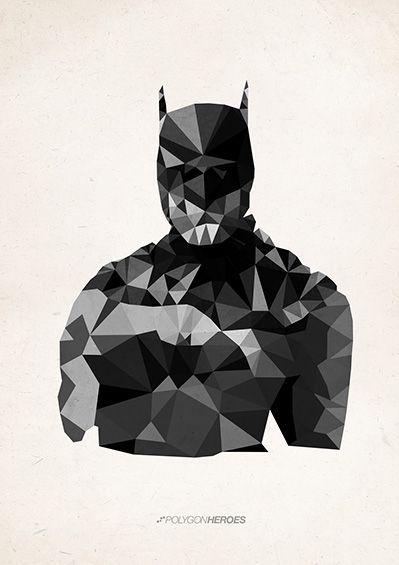 """""""Batman"""" gefunden auf www.polygonheroes.com gepinned von der Hamburger Werbeagentur BlickeDeeler -> www.BlickeDeeler.de"""