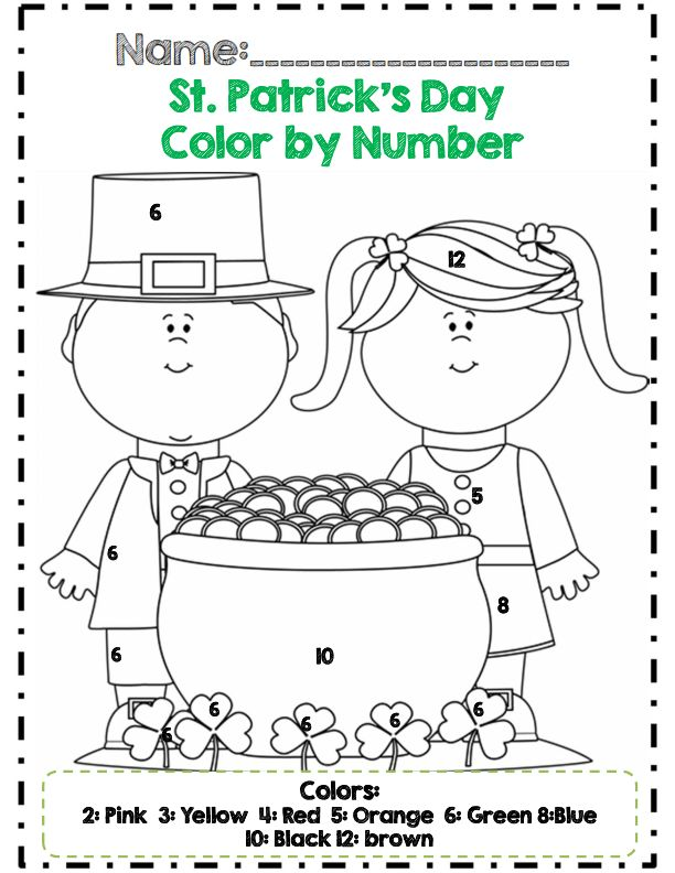 st patrick's day color by number Daycares Crafts, Classroom Holiday ...