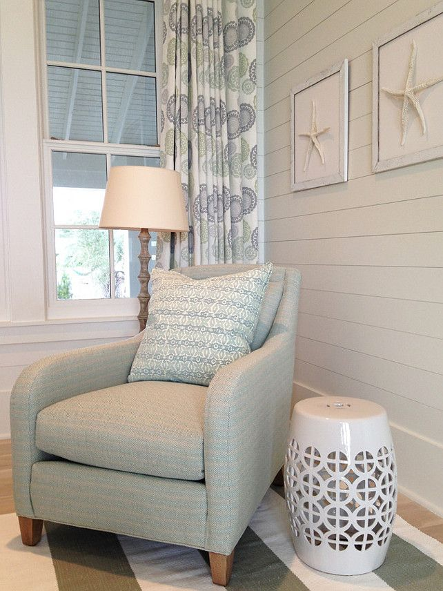 Bedroom Chair Ideas would love a chairstool just like this right down to the lovely soft Coastal Bedroom Sitting Area Coastal Bedroom Coastal Bedroom Sitting Area Ideas Coastalbedroom