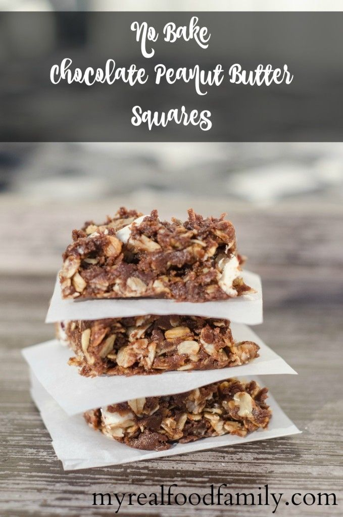 Chocolate Peanut Butter Breakfast Squares -  MyRealFoodFamily