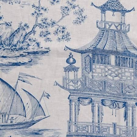 waverly asian theme drapery fabric - Google Search