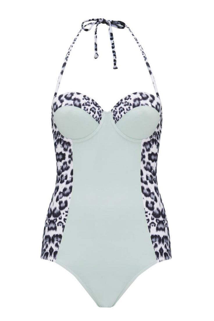 Lily and Lionel structured one piece in leopard and light blue. Features tummy control, structured cups, and a high cut back for extra support. The leopard panels at the side and on the bust are designed to enhance your natural shape. Lounge by the pool in style with this gorgeous swimsuit.     Leopard One Piece by Lily and Lionel. Clothing - Swimwear - One-Piece Essex, East of England, England, United Kingdom