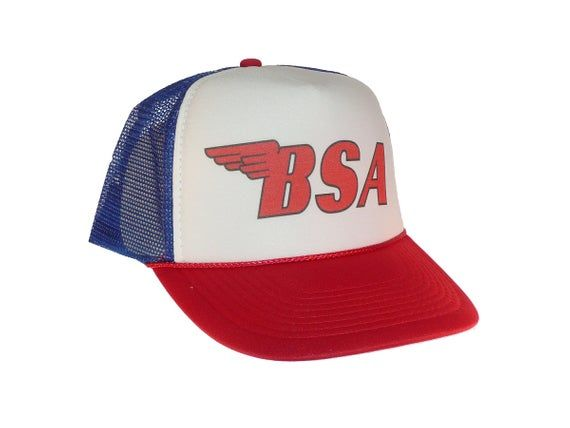 Bsa Motorcycles Hat Trucker Hat Mesh Hat New Adjustable Etsy In 2021 Motorcycle Hat Mesh Hat Trucker Hat