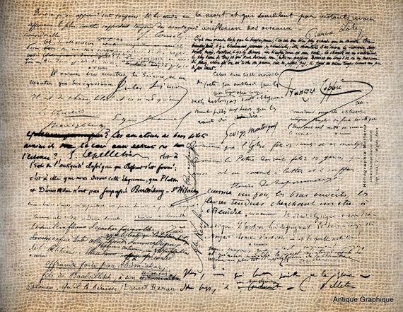 Antica grafia francese Script Digital Download di AntiqueGraphique