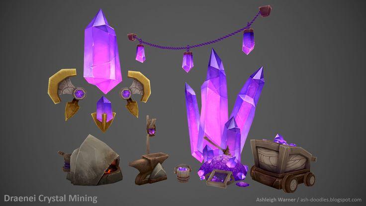 ArtStation - Draenei Crystal Mining, Ashleigh Warner