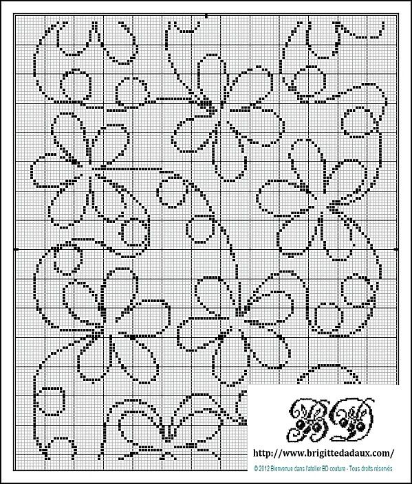 Charted flower design.