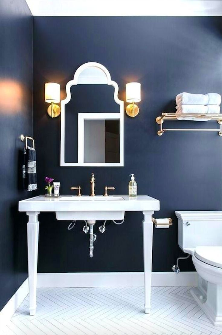 10 Navy Blue Bathroom Ideas Bathroom Trends Navy Bathroom Decor Blue Bathroom Decor