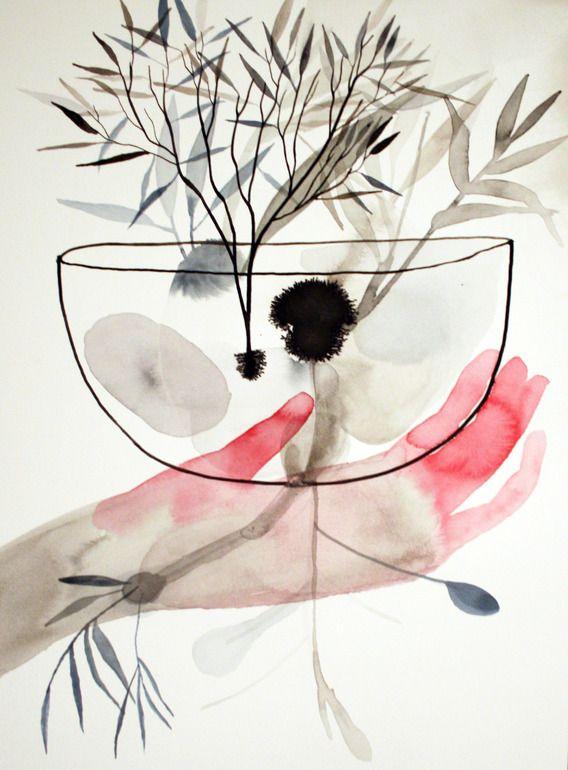 watercolor study by Sara Falli