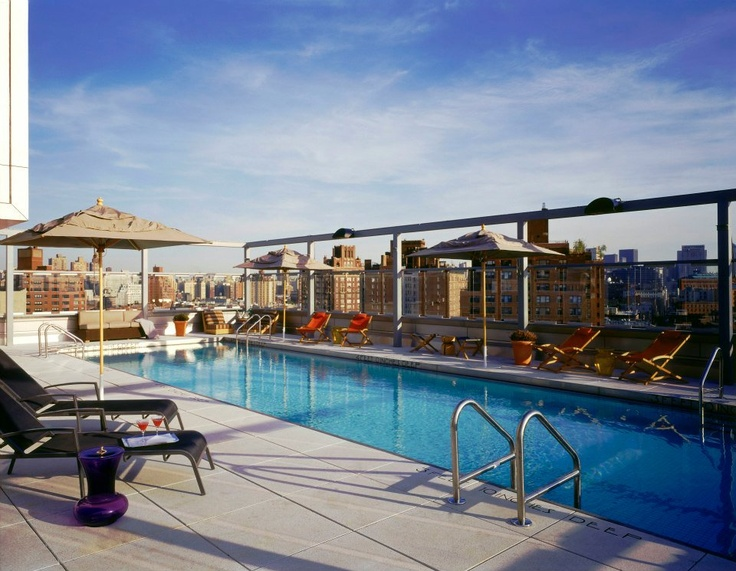 Rooftop Pool Ganzevoort Hotel Meatng Nyc Travel Sites Pinterest And Gansevoort