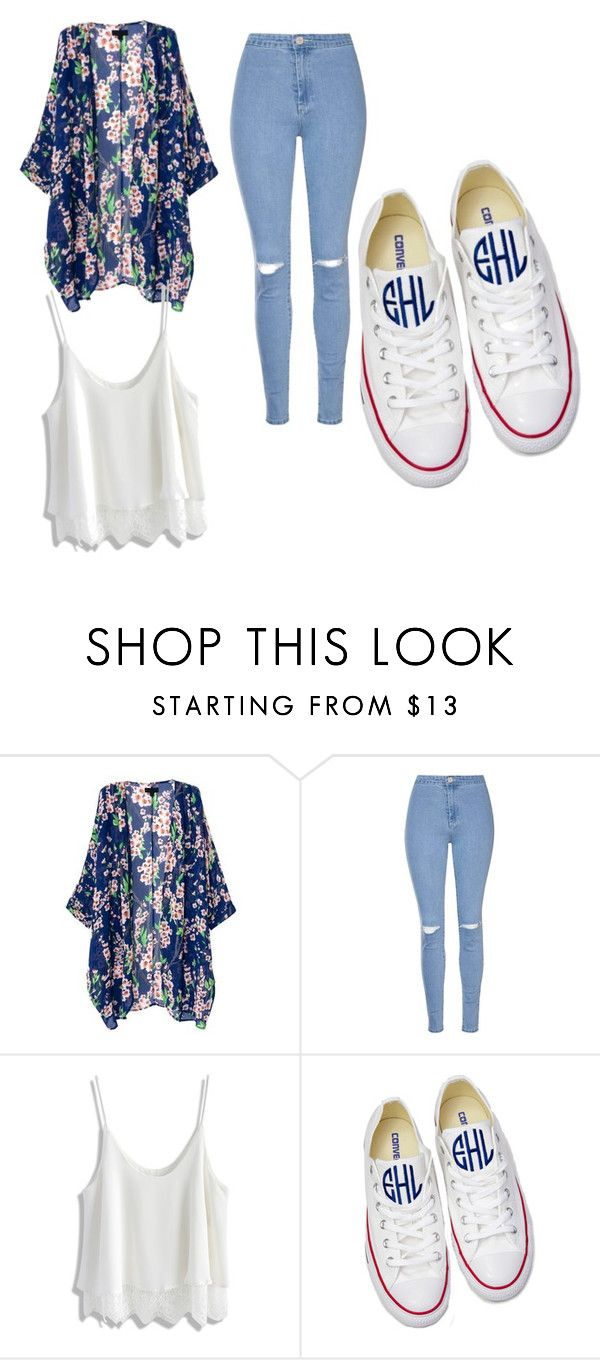 """""""high school"""" by christynstuff ❤ liked on Polyvore featuring Glamorous, Chicwish and Converse"""