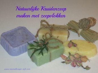 Kruidenzeep van zeepvlokken maken is leuk en makkelijk om te doen. En een origineel geschenk.