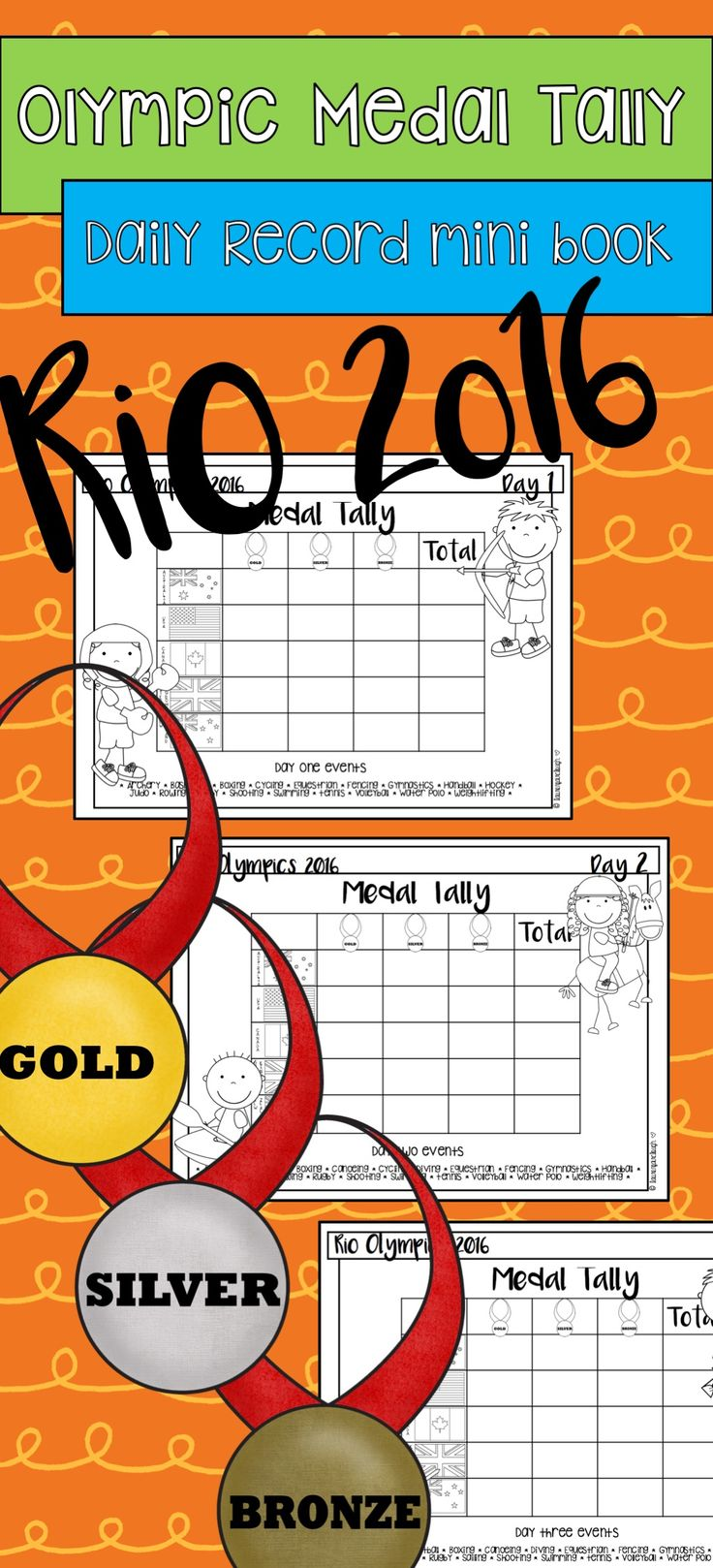 Rio Olympic Games 2016 Medal Tally Mini Book