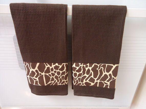 Giraffe Animal Print Kitchen Towel By MyFancyTowels On Etsy, $8.99