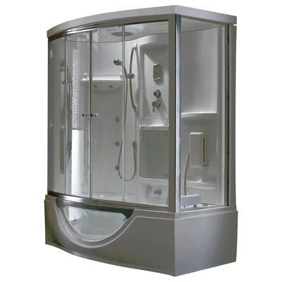 Steam Planet - Modern Steam & Shower Enclosure with Whirlpool Bathtub, Multi Body Message Water Jets, Radio & Aromatherapy - MK557L - Home D...