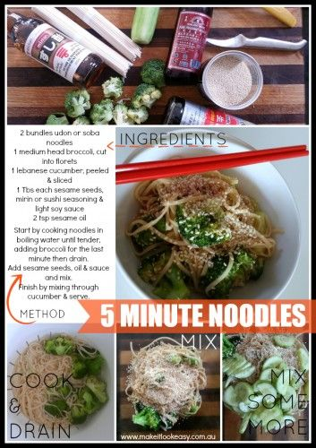 Quick & Easy Noodles - perfect way to cook up some delicious soba or udon noodles.  #noodles #quickandeasy