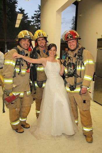 Yes, this really happened. And no, they were not hired. Apparently there was a small fire in the kitchen.